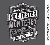 california motorcycle ride...   Shutterstock .eps vector #631249286