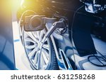 new era of vehicle fuel charge. ... | Shutterstock . vector #631258268