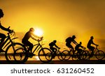image of sporty company friends ... | Shutterstock . vector #631260452