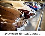 Retro Cars In The Garage