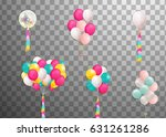 flying mega bunch of colorful ... | Shutterstock .eps vector #631261286