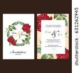 wedding invitation card   Shutterstock .eps vector #631262945