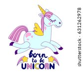 cute unicorns with an... | Shutterstock .eps vector #631262978
