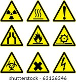 warning signs vector work. | Shutterstock .eps vector #63126346