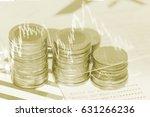 double exposure of rows of... | Shutterstock . vector #631266236
