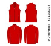 red color autumn fleece vest... | Shutterstock .eps vector #631266335