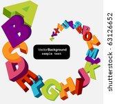 colorful 3d alphabet letters... | Shutterstock .eps vector #63126652