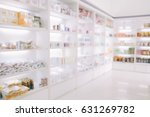 blurry medicine cabinet and...   Shutterstock . vector #631269782