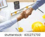 top view architect and the... | Shutterstock . vector #631271732