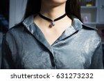 bride necklace of pearl | Shutterstock . vector #631273232