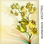 eps10 floral  background with a ... | Shutterstock .eps vector #63127501