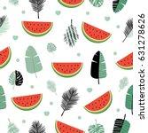 modern vector seamless pattern... | Shutterstock .eps vector #631278626