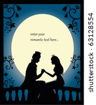 Romantic Silhouette Of Lovers...