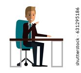 businessman in workplace avatar ... | Shutterstock .eps vector #631295186