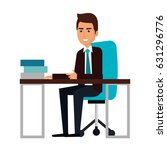 businessman in workplace avatar ... | Shutterstock .eps vector #631296776