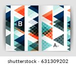 vector triangle business annual ... | Shutterstock .eps vector #631309202