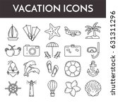 set of thin line icons with... | Shutterstock .eps vector #631311296