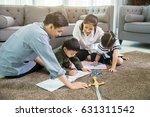 asian family spend time... | Shutterstock . vector #631311542