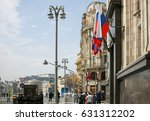 moscow   1 may 2017  big parade ... | Shutterstock . vector #631312202
