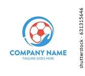 soccer foot ball logo template | Shutterstock .eps vector #631315646