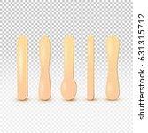 wooden stick for icecream or...   Shutterstock .eps vector #631315712