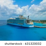 cruise ship docked | Shutterstock . vector #631320032