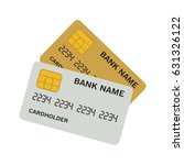 bank card gold and platinum on...