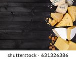 various types of cheese on... | Shutterstock . vector #631326386