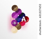 colorful glossy circle... | Shutterstock .eps vector #631327652