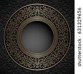 vintage background  gold...   Shutterstock . vector #631329656