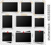 photo card frame film set.... | Shutterstock .eps vector #631332032