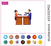 male and female candidates... | Shutterstock .eps vector #631332902