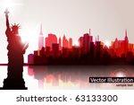new york skyline. vector | Shutterstock .eps vector #63133300