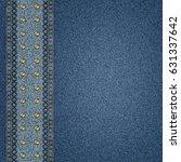 denim jeans background | Shutterstock . vector #631337642