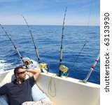Sailor Man Fishing Resting In...