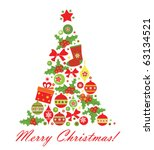 christmas tree | Shutterstock .eps vector #63134521