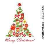 christmas tree | Shutterstock .eps vector #63134521