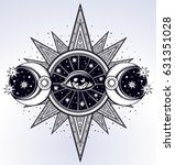 all seeing eye is on the... | Shutterstock .eps vector #631351028