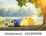 camping and the tent in holiday ...   Shutterstock . vector #631354958