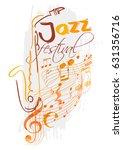 jazz festival design with... | Shutterstock .eps vector #631356716