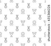 seamless awards pattern | Shutterstock .eps vector #631366226