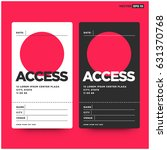 access card template with name... | Shutterstock .eps vector #631370768