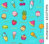 seamless doodle pattern with... | Shutterstock .eps vector #631375496