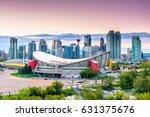 beautiful calgary skyline at... | Shutterstock . vector #631375676