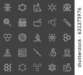 chemical line icons collection. ... | Shutterstock .eps vector #631375976