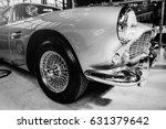 beautiful retro silver car at... | Shutterstock . vector #631379642