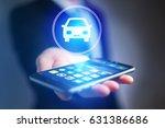 view of businessman hand...   Shutterstock . vector #631386686