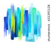 abstract artistic brush strokes ... | Shutterstock . vector #631392128