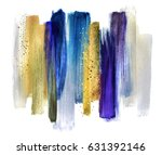 abstract watercolor brush... | Shutterstock . vector #631392146
