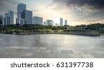 empty brick road nearby office... | Shutterstock . vector #631397738